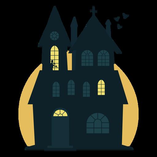 Espeluznante casa embrujada de halloween Transparent PNG