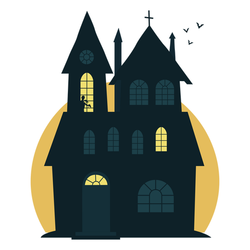 Halloween Spooky House.Spooky Halloween Haunted House Transparent Png Svg Vector