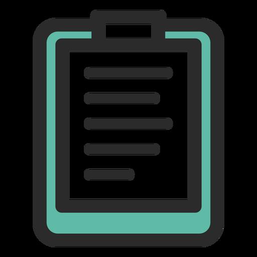 Portapapeles deportivo icono de trazo coloreado Transparent PNG