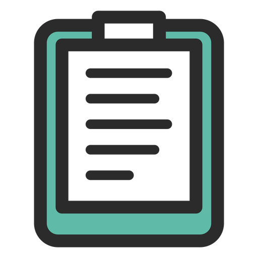 Sports clipboard colored stroke icon Transparent PNG