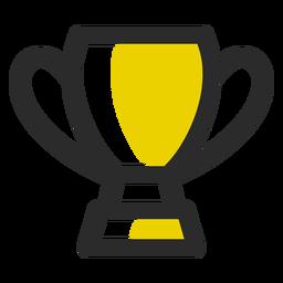 Icono de trazo de color de trofeo deportivo