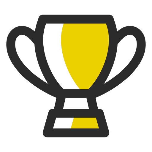 Sports trophy colored stroke icon Transparent PNG