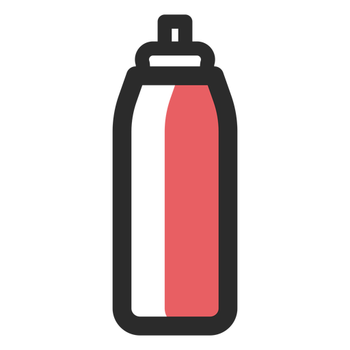 Sports water bottle colored stroke Transparent PNG
