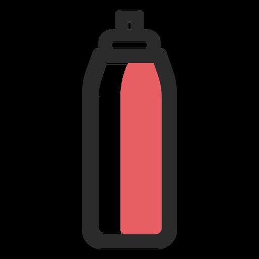 Sports water bottle colored stroke