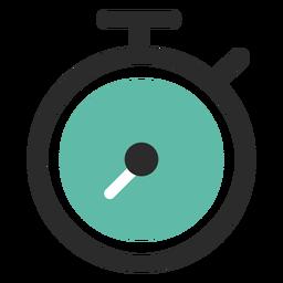 Icono de trazo de color de cronómetro