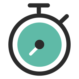 Stopwatch colored stroke icon