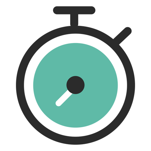 Stopwatch colored stroke icon Transparent PNG