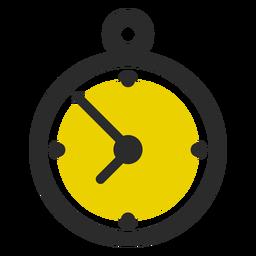 Stoppuhr farbige Hubsymbol Sport Symbole