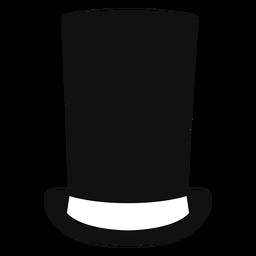 Ícone plana de chapéu de cano de fogão