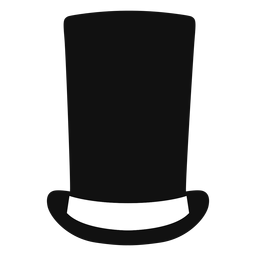 Stove pipe hat flat icon