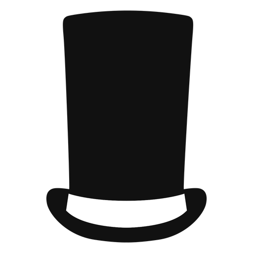 Stove pipe hat flat icon Transparent PNG