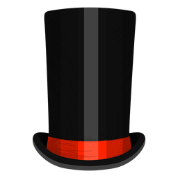 Stove pipe hat icon
