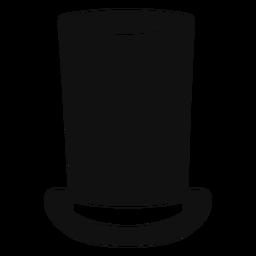 Ícone de esboço de chapéu de tubo de fogão