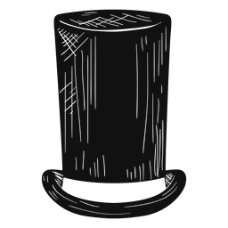 Stove pipe hat sketch icon