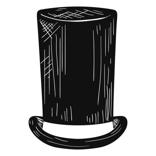 Stove pipe hat sketch icon Transparent PNG