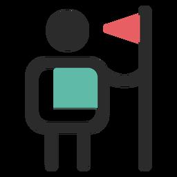 Icono de líder de trazo