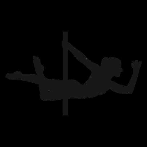 Superwoman pole dance silhouette Transparent PNG