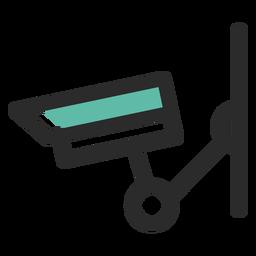 Cámara de vigilancia coloreada icono de trazo