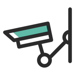 Surveillance camera colored stroke icon