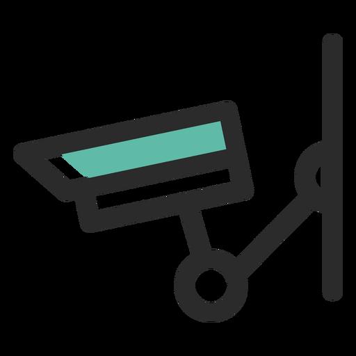 Ícone de traço colorido de câmera de vigilância Transparent PNG