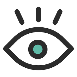 Surveillance eye colored stroke icon