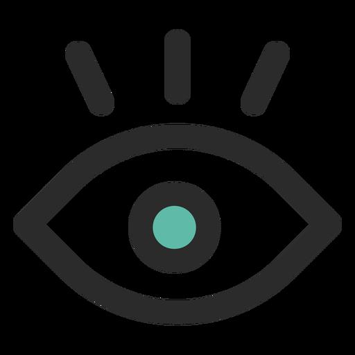 Überwachungsauge farbige Strich-Symbol Transparent PNG
