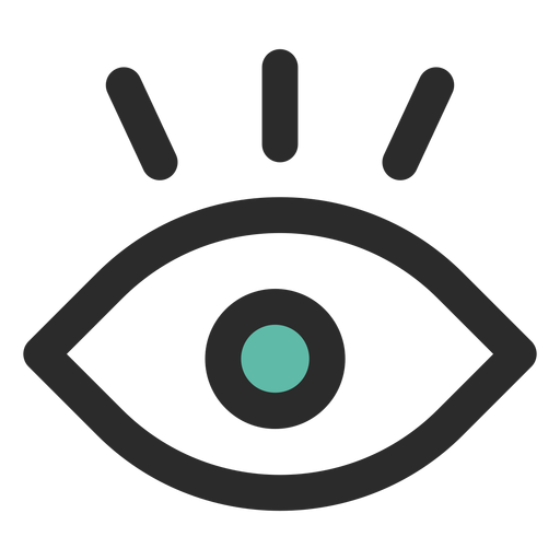Ojo de vigilancia coloreado icono de trazo Transparent PNG