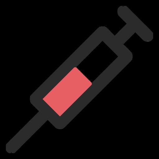 Icono de trazo de color de jeringa