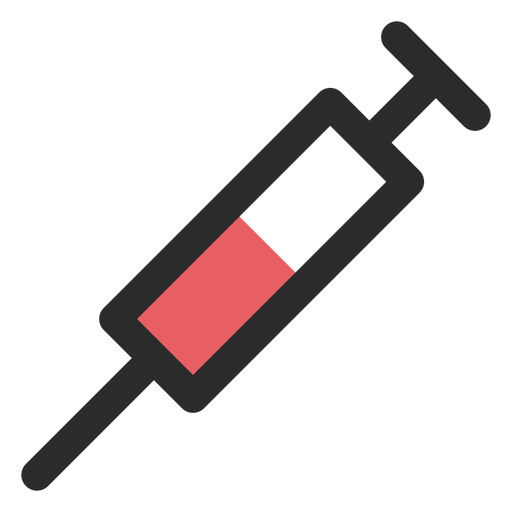 Syringe colored stroke icon Transparent PNG