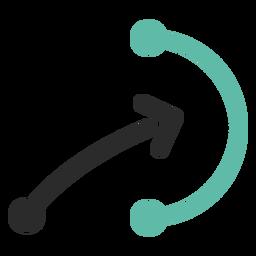 Ícone de traço colorido esquema tática