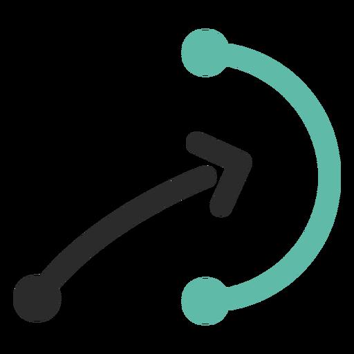 Ícone de traço colorido esquema tática Transparent PNG