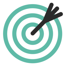 Icono de objetivo y flecha