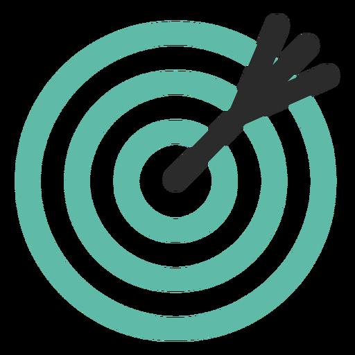 Icono de destino y flecha
