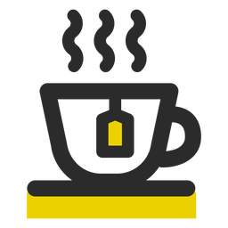 Tea cup colored stroke icon