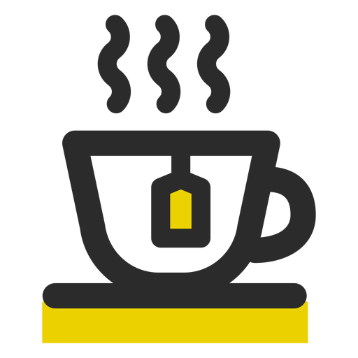 Tea cup colored stroke icon Transparent PNG