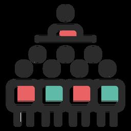 Ícone de liderança de equipe