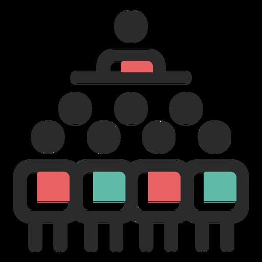 Icono de liderazgo de equipo