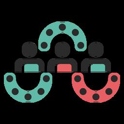 Icono de trazo de trabajo en equipo