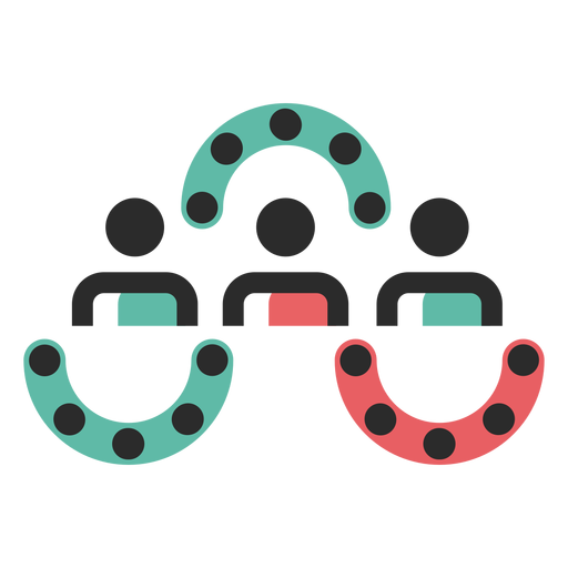 Ícone de traço de trabalho em equipe Transparent PNG