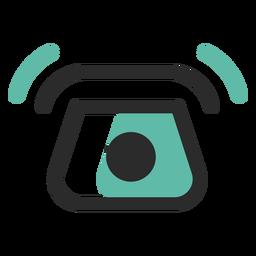 Icono de trazo de color de teléfono sonando