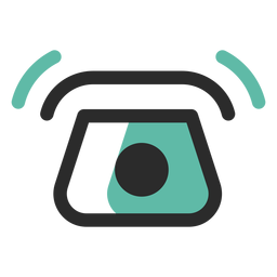 Telephone ringing colored stroke icon