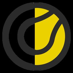 Tennis ball colored stroke icon