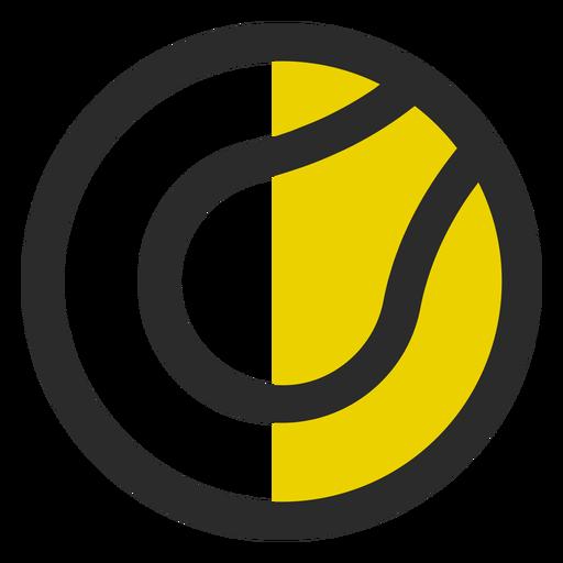 Pelota de tenis coloreada icono de trazo Transparent PNG