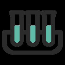 Ícone de traço colorido de tubos de ensaio