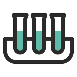 Test tubes colored stroke icon