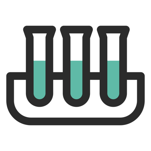 Test tubes colored stroke icon Transparent PNG