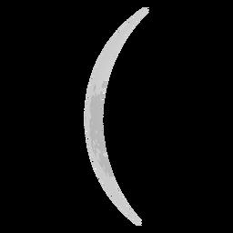 Ícone de lua crescente fina