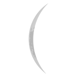 Thin crescent moon icon