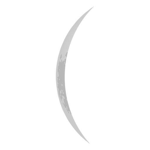 Icono de luna fina Transparent PNG