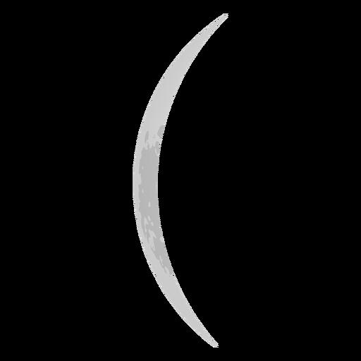 Thin crescent moon icon